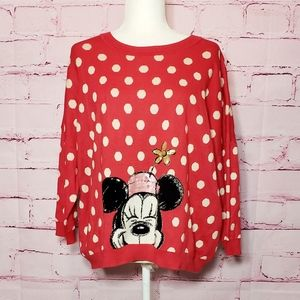 Disney Cath Kidston Red Polka Dot Minnie Sweater